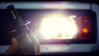 h4 P8 LED лампы БЛИЖНИЙ / ДАЛЬНИЙ СВЕТ, 4000К, демонстрация работы на ВАЗ 2105