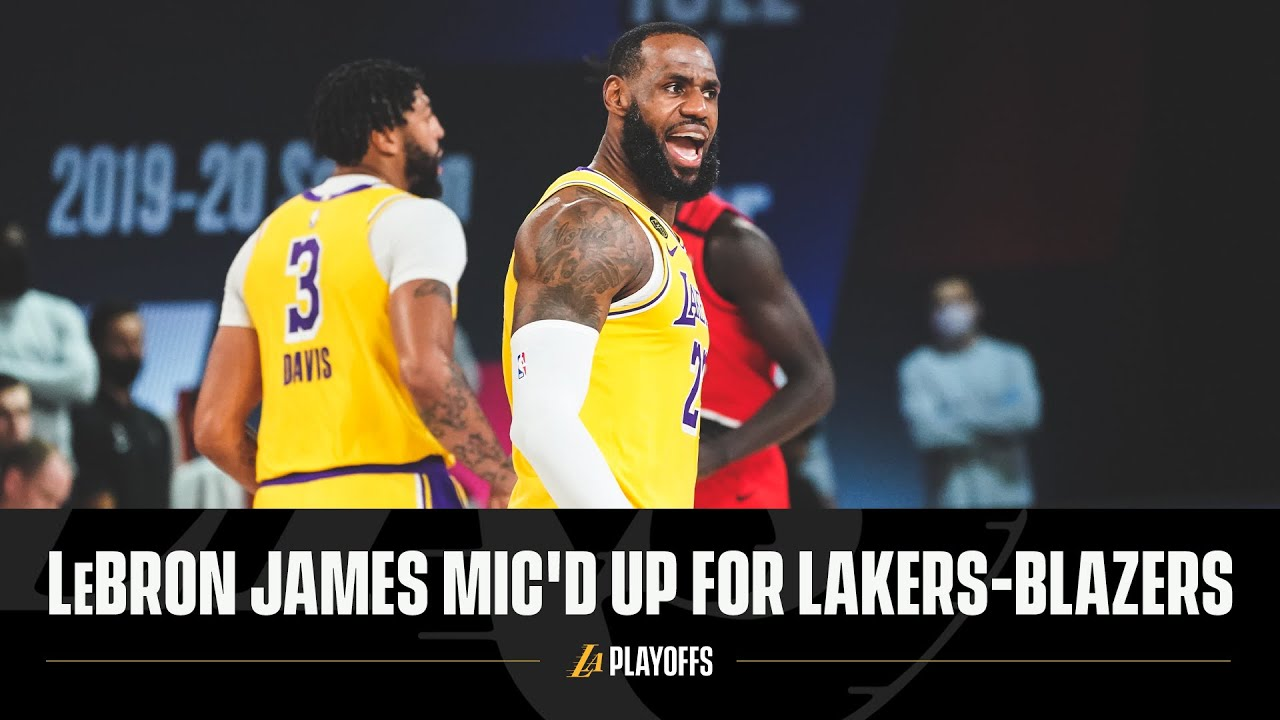 LeBron James Mic'd Up for Lakers-Blazers