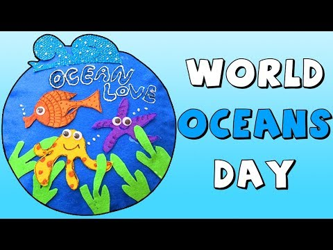 How To Make Paper Plate Ocean | DIY Craft Tutorial | World Ocean Day Special Craft For Kids
