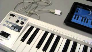 Roland A-49 Controller Connecting to a Apple Ipad.