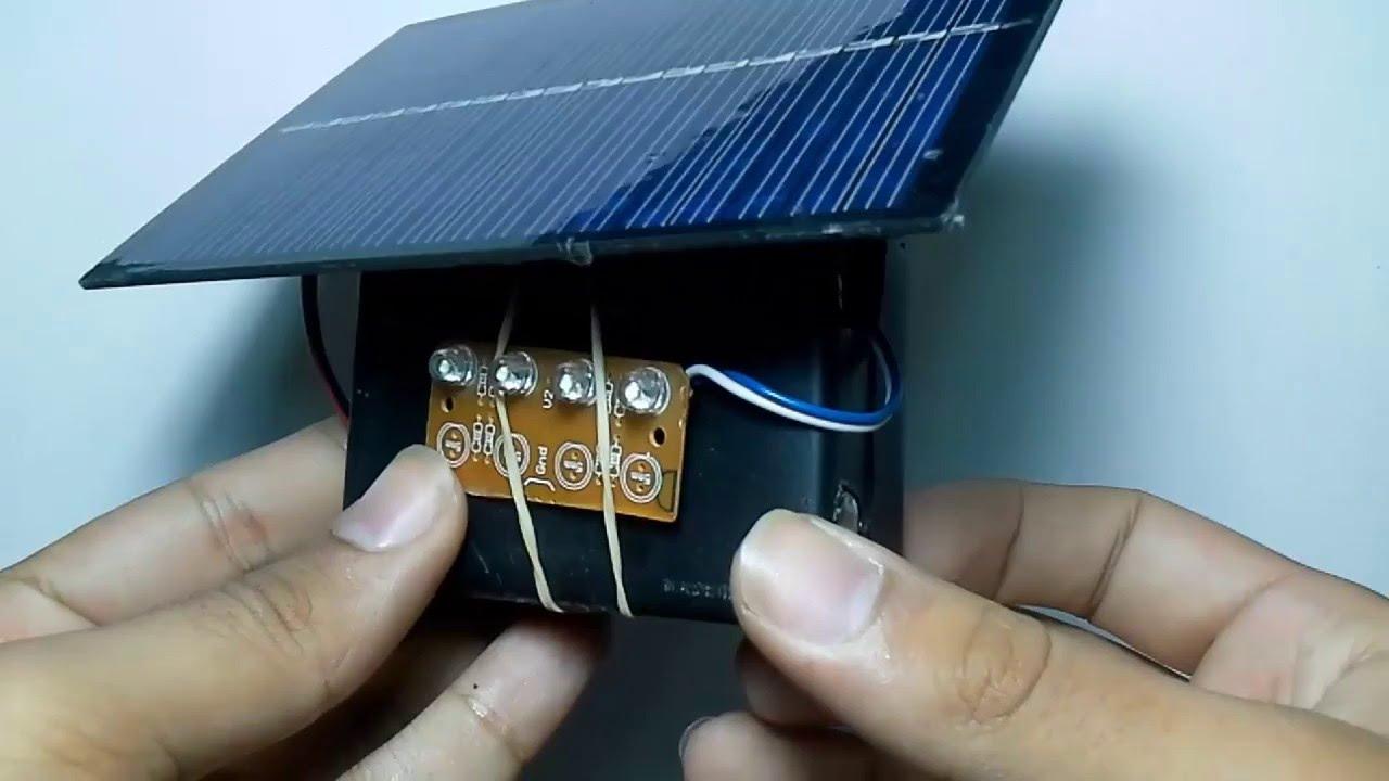 Como hacer una lampara solar how to make a sunlamp - Lamparas solares de led ...