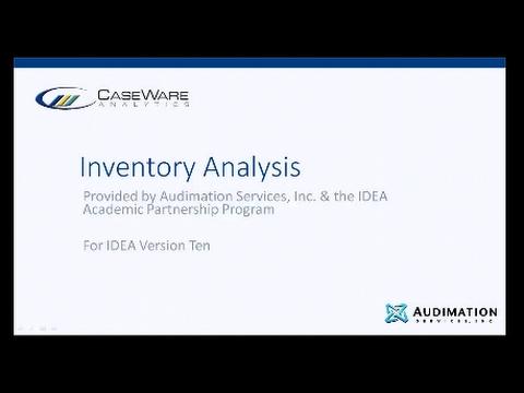 IDEA 10 Workbook Section 4 - Inventory Analysis