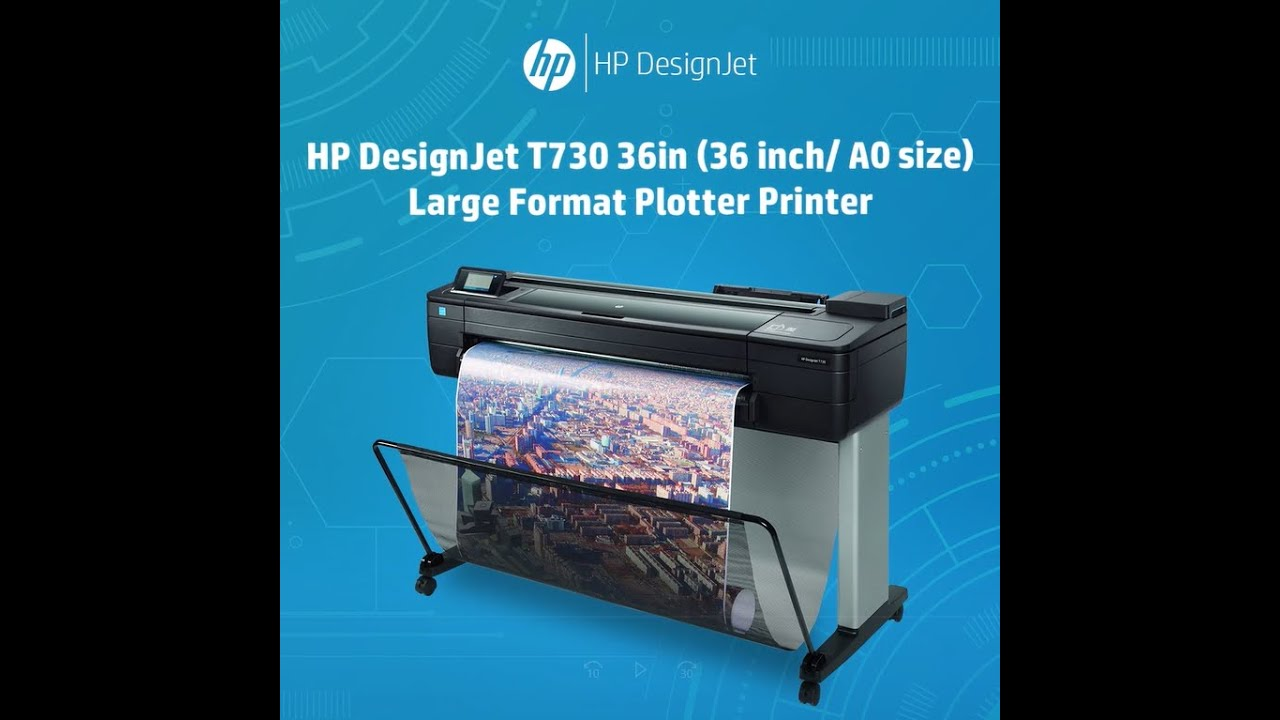 HP DesignJet T730 36-in Printer (36 inch/ A0 size) Large Format ...