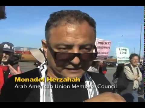 Israel Zim Line Hit With Pickets-ILWU 10 & 34 Workers Stand Against Israeli Apartheid