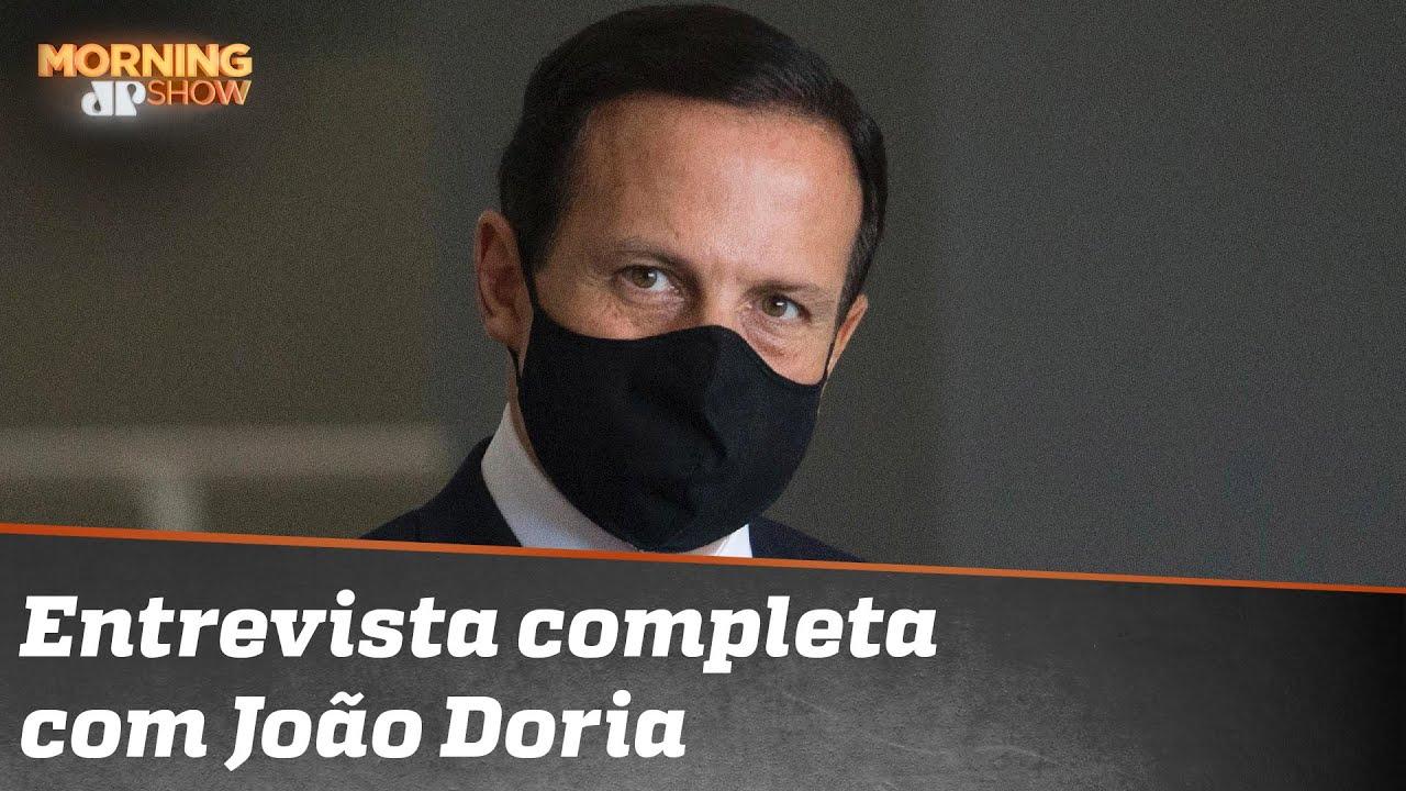 Assista à íntegra da entrevista com João Doria