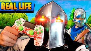 FORTNITE IN REAL LIFE!! PLAYING WITH THE SAME CASCO!! REAL LIFE FORTNITE EPIC