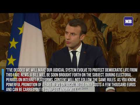 """France's President Macron to propose bill to combat """"fake news"""""""