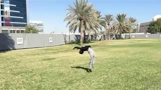 Акробатика на траве. Учим фляки и сальто.