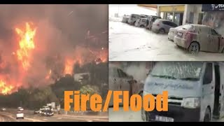 S Africa: Fire engulfs entire town | 300 mile west 50ft waves crash Cape coast