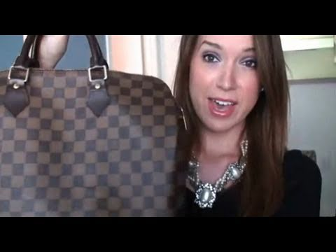 4b191971052c Whats in my bag ! !  Louis Vuitton Speedy 35 Damier Ebene - YouTube