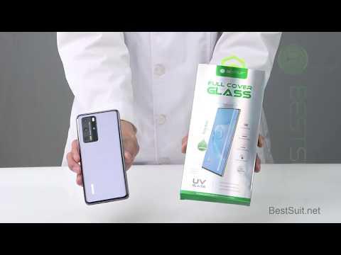 Huawei P40 UV Glue Tempered Glass Screen Protector, Best Mobile Phone Screen Protector-BESTSUIT