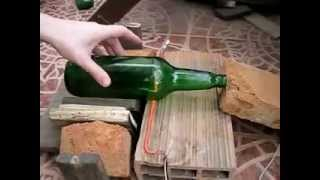 Cortar botella de vidrio - Método fácil y rápido (Cut glass bottle - easy and quick way)