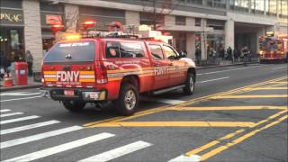 FDNY RESPONDING TO & WORKING A 10-77 HIGH RISE FIRE ON 42ND ST. IN HELL