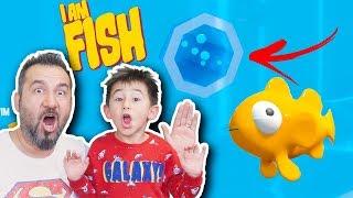 BİZİM BALIK GİZEMLİ TÜNELE GİRDİ! BORULARDA NE VAR? | EGEMEN KAAN İLE I AM FISH OYNUYORUZ #2
