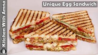 Masala Egg Sandwich Recipe  Quick and Easy Breakfast Recipe  Kitchen With Amna