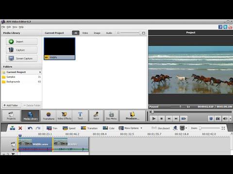 Tutoriel 1 - Montage vidéo - AVS Video Editor - présentation générale du logiciel
