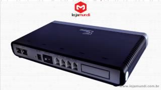 Vídeo Grandstream GXW 4104 Gateway 4 FXO é na Lojamundi