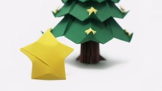 Origami Lucky Stars for the Christmas Tree