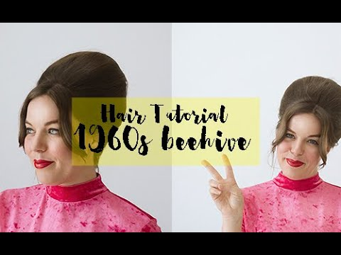 Easy 1960s Inspired Beehive Bouffant Hair Tutorial