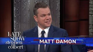 Matt Damon Explains Why 'Good Will Hunting' Has So Much Cursing by : The Late Show with Stephen Colbert