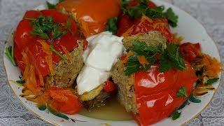 Перец, фаршированный мясом и рисом: вкусный рецепт.