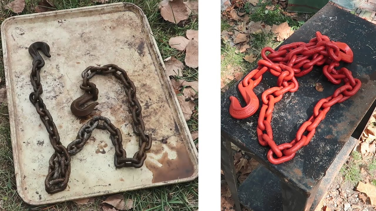 Old Diamond Duluth Chain Cleaning / Rust Removal / Restoration - YouTube