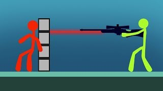 INTENSE STICK FIGHT SNIPER BATTLE! (Stick Fight)
