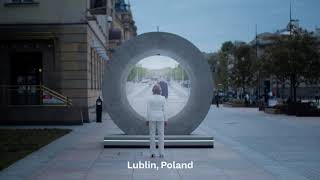 Vilnius and Lublin in Poland became the first two cities to connect through a virtual Portal