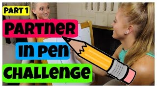 Partner In Pen Challenge! | Teagan and Sam