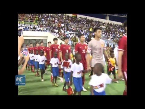 China-funded stadium in Ghana inaugurated with football friendly