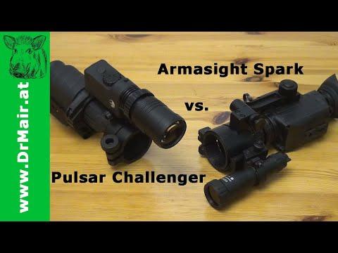 Pulsar Challenger vs Armasight Spark mit Gewehrmontage