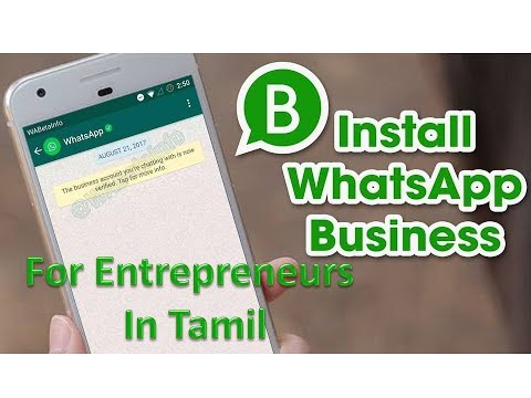 Whatsapp Business App for entrepreneurs, with free features in Tamil