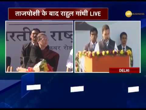 Rahul Gandhi elevated as Congress President, addresses party workers