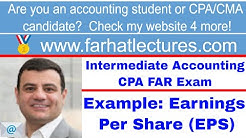 Comprehensive Example (Webster Corp): Earnings per Share (EPS) Intermediate Accounting| CPA Exam FAR