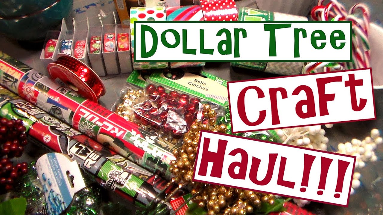 Dollar Tree Christmas Craft Supply Haul 2015! - YouTube