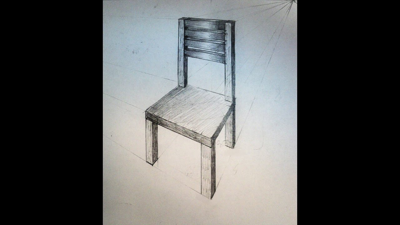 How To Draw   Chair   Two Point Perspective   Practice   YouTube