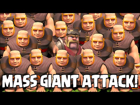 Clash of clans - MASS GIANT ATTACK (TH8 Awesome Raids) from YouTube · Duration:  8 minutes 7 seconds