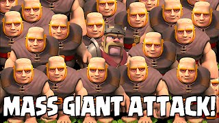 Clash of clans - MASS GIANT ATTACK (TH8 Awesome Raids)