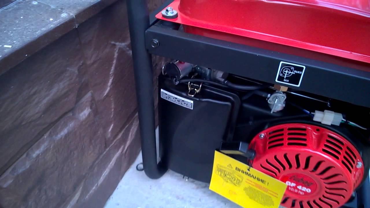 Как завести генератор. Как запитать дом от генератора.