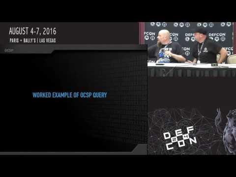DEF CON 24 Crypto and Privacy Village - Mat Caughron, Trey Blalock - Revocation the Frailty of PKI