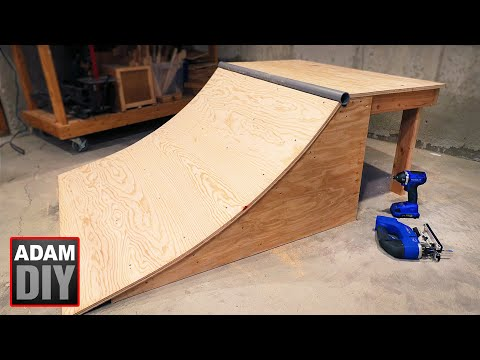 How to build a Skate Ramp / Quarter Half Pipe