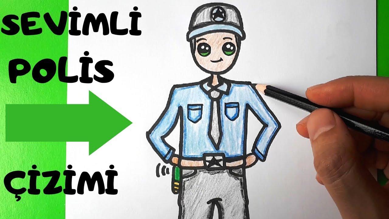 Sevimli Polis Cizimi Polis Nasil Cizilir Kolay Polis Cizimi How