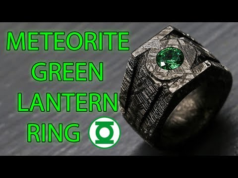 Making A Green Lantern Power Ring Out Of Solid Meteorite (Pt. 2)