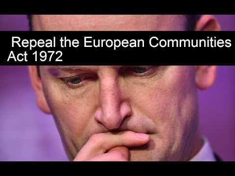 Douglas Carswell - Repeal the European Communities Act 1972 (2012)