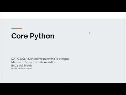 Learn Core Python in 40 Minutes