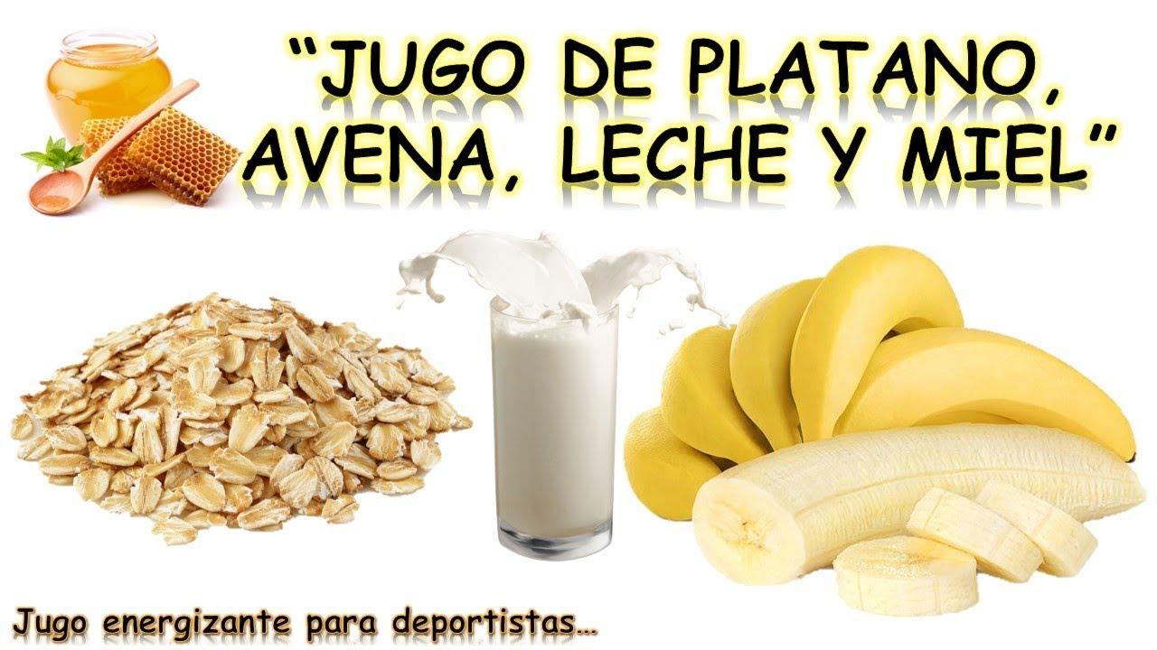 Avena con leche y banano