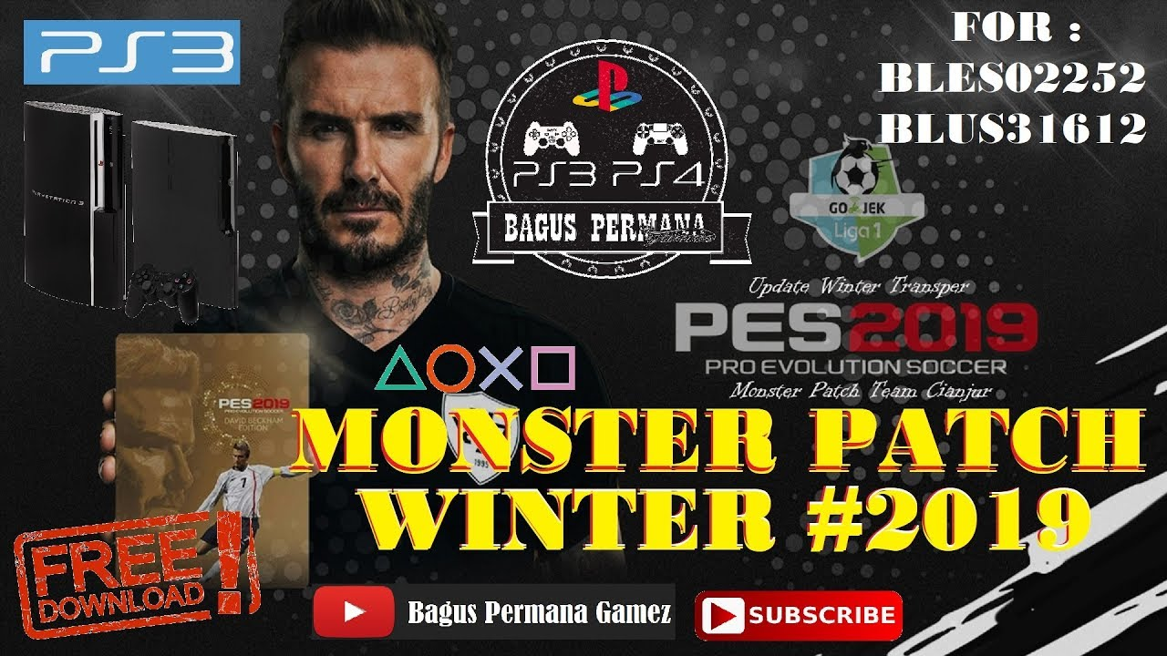 pes 2019 ps3 monster patch winter transfer 18 19 aio. Black Bedroom Furniture Sets. Home Design Ideas