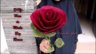 Baixar DIY Single Rose out of Felt - Giant Long Stem Roses