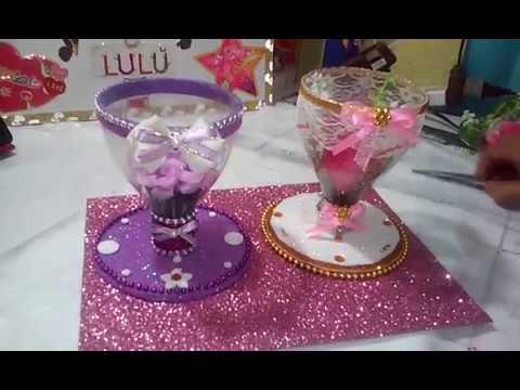 257 copas para centros de mesa con botellas pet youtube - Mesas para ninos de plastico ...