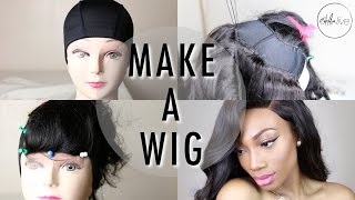 One of estareLIVE's most viewed videos: HOW TO : MAKE A WIG | Step By Step Tutorial (SEWING A LACE CLOSURE & BUNDLES)